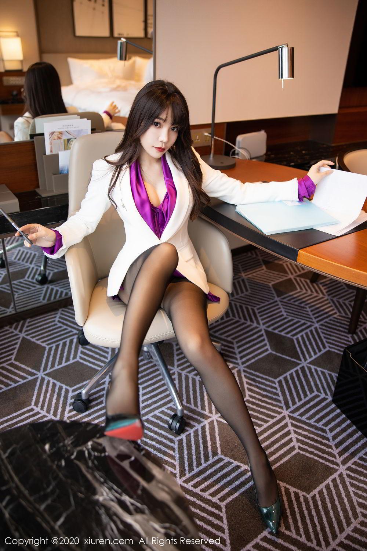 [XiuRen] Vol.2256 Zhi Zhi Booty 26P, Black Silk, Chen Zhi, Uniform, Xiuren
