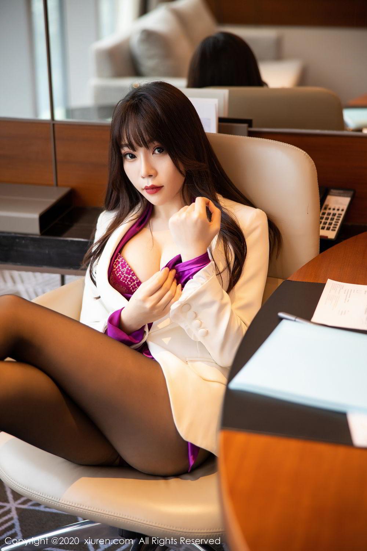 [XiuRen] Vol.2256 Zhi Zhi Booty 34P, Black Silk, Chen Zhi, Uniform, Xiuren