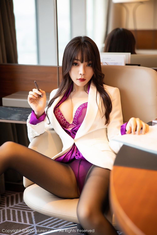 [XiuRen] Vol.2256 Zhi Zhi Booty 35P, Black Silk, Chen Zhi, Uniform, Xiuren