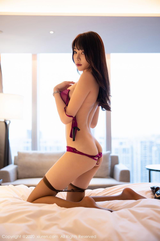 [XiuRen] Vol.2256 Zhi Zhi Booty 64P, Black Silk, Chen Zhi, Uniform, Xiuren
