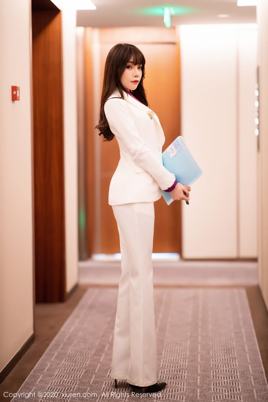 [XiuRen] Vol.2256 Zhi Zhi Booty 6P, Black Silk, Chen Zhi, Uniform, Xiuren