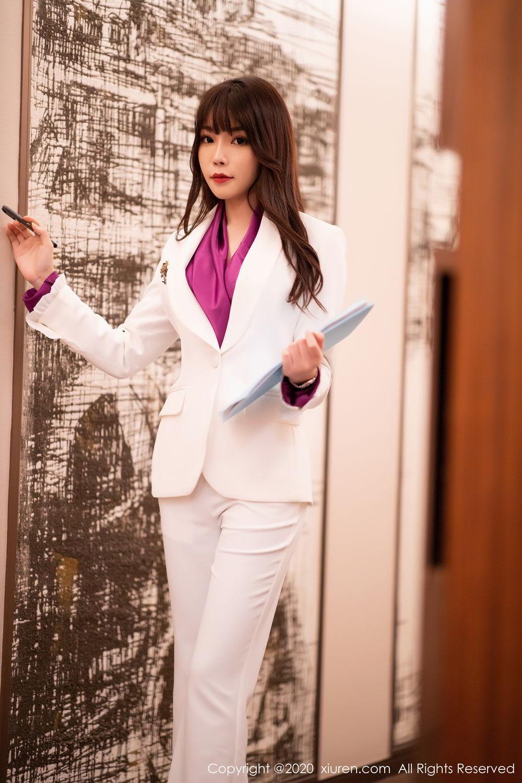 [XiuRen] Vol.2256 Zhi Zhi Booty 7P, Black Silk, Chen Zhi, Uniform, Xiuren