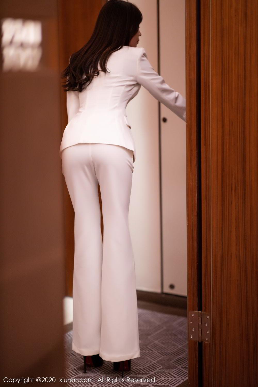 [XiuRen] Vol.2256 Zhi Zhi Booty 8P, Black Silk, Chen Zhi, Uniform, Xiuren