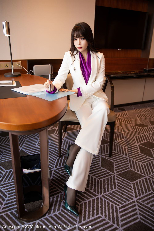 [XiuRen] Vol.2256 Zhi Zhi Booty 9P, Black Silk, Chen Zhi, Uniform, Xiuren
