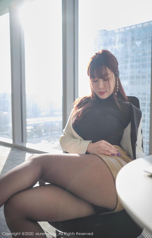 [XiuRen] Vol.2259 Wang Yu Chun 20P, Black Silk, Mature, Underwear, Wang Yu Chun, Xiuren