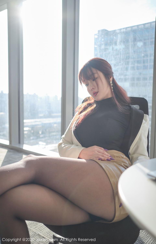 [XiuRen] Vol.2259 Wang Yu Chun 21P, Black Silk, Mature, Underwear, Wang Yu Chun, Xiuren