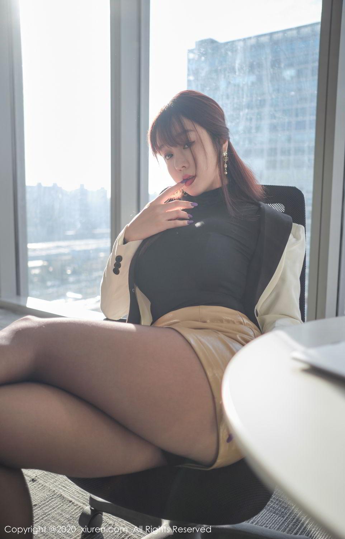 [XiuRen] Vol.2259 Wang Yu Chun 22P, Black Silk, Mature, Underwear, Wang Yu Chun, Xiuren