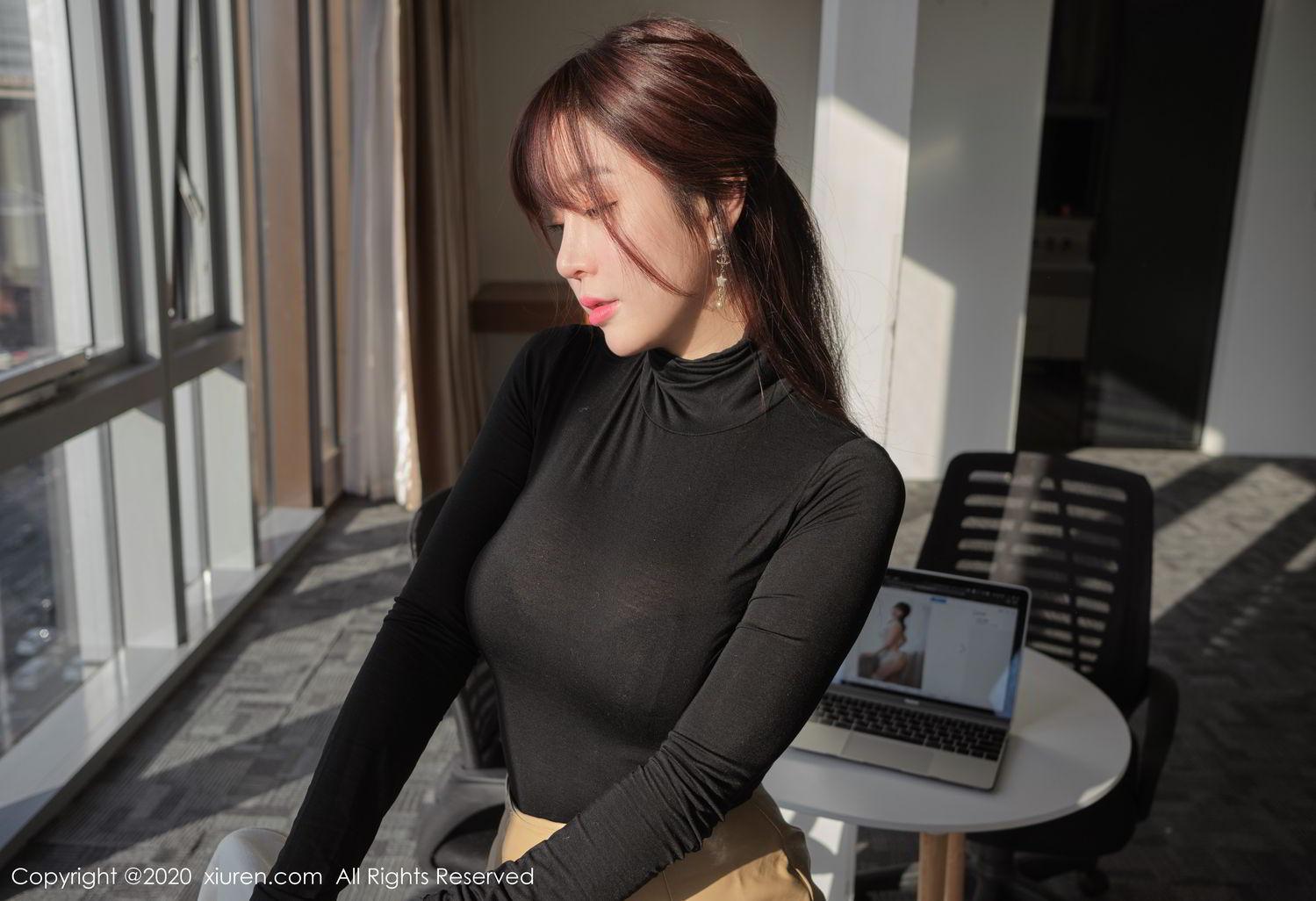 [XiuRen] Vol.2259 Wang Yu Chun 30P, Black Silk, Mature, Underwear, Wang Yu Chun, Xiuren