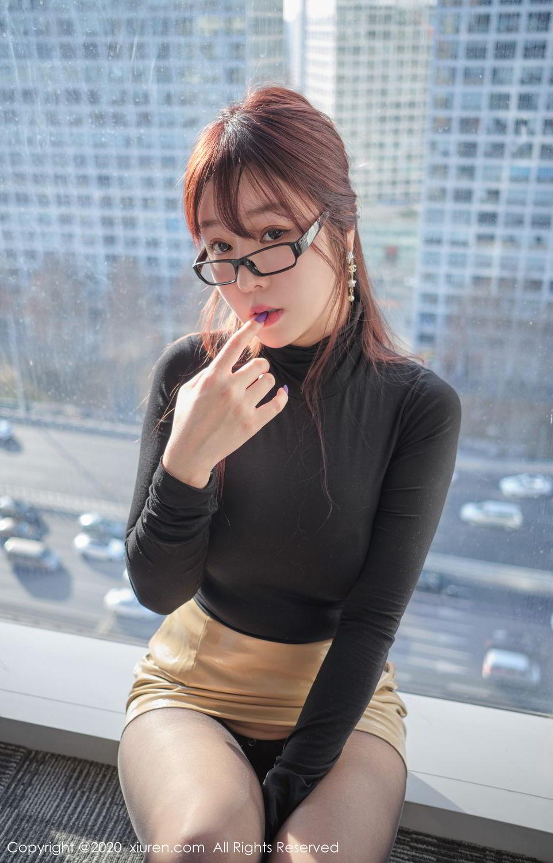 [XiuRen] Vol.2259 Wang Yu Chun 32P, Black Silk, Mature, Underwear, Wang Yu Chun, Xiuren