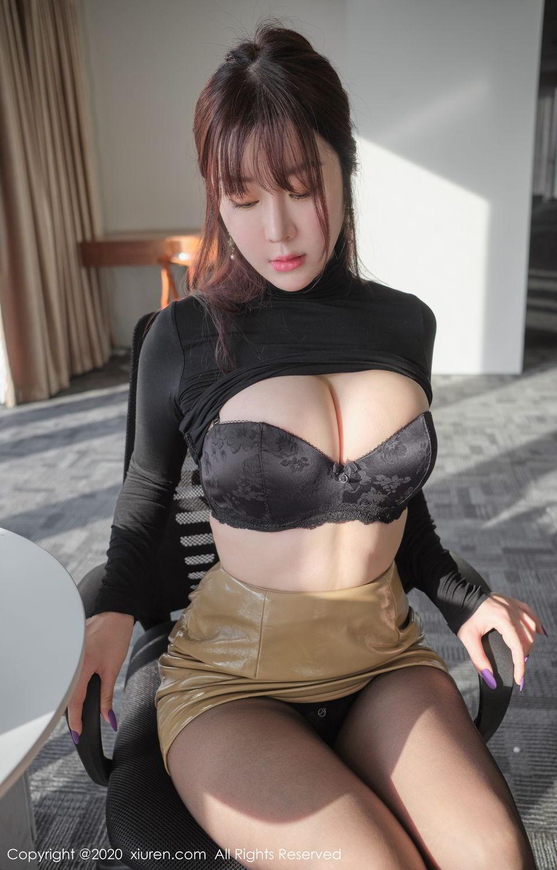 [XiuRen] Vol.2259 Wang Yu Chun 37P, Black Silk, Mature, Underwear, Wang Yu Chun, Xiuren