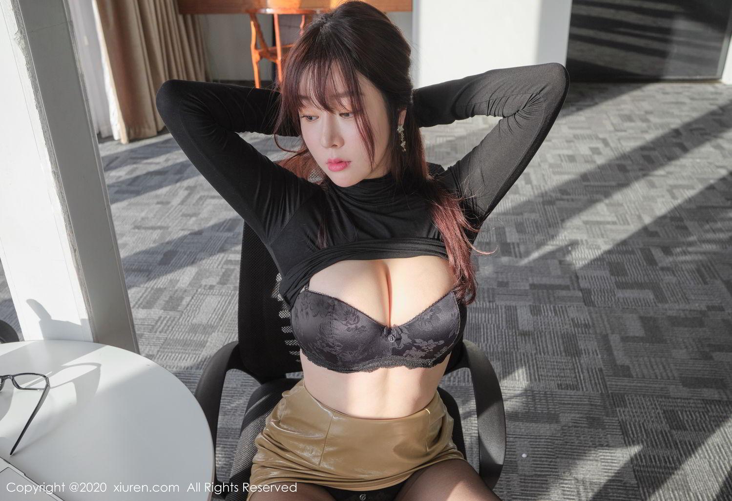 [XiuRen] Vol.2259 Wang Yu Chun 39P, Black Silk, Mature, Underwear, Wang Yu Chun, Xiuren