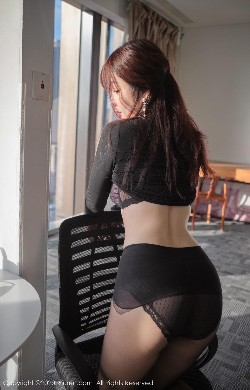 [XiuRen] Vol.2259 Wang Yu Chun 45P, Black Silk, Mature, Underwear, Wang Yu Chun, Xiuren