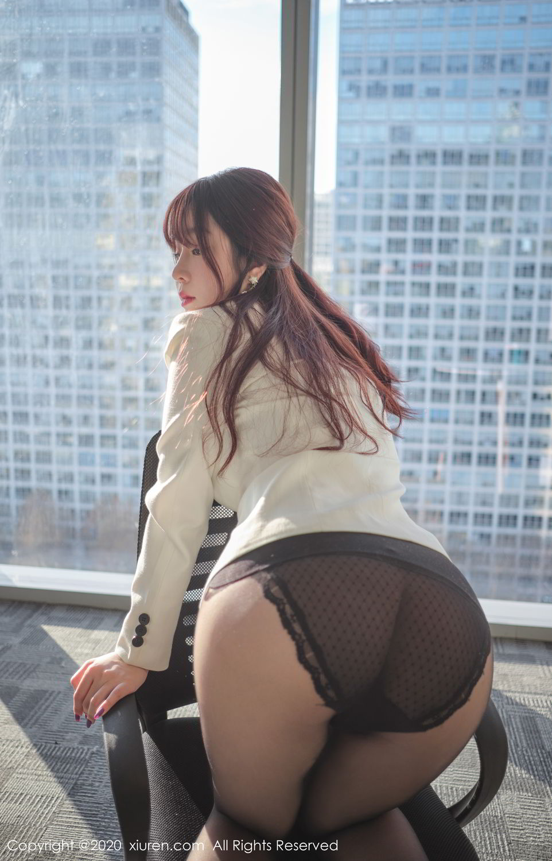 [XiuRen] Vol.2259 Wang Yu Chun 50P, Black Silk, Mature, Underwear, Wang Yu Chun, Xiuren