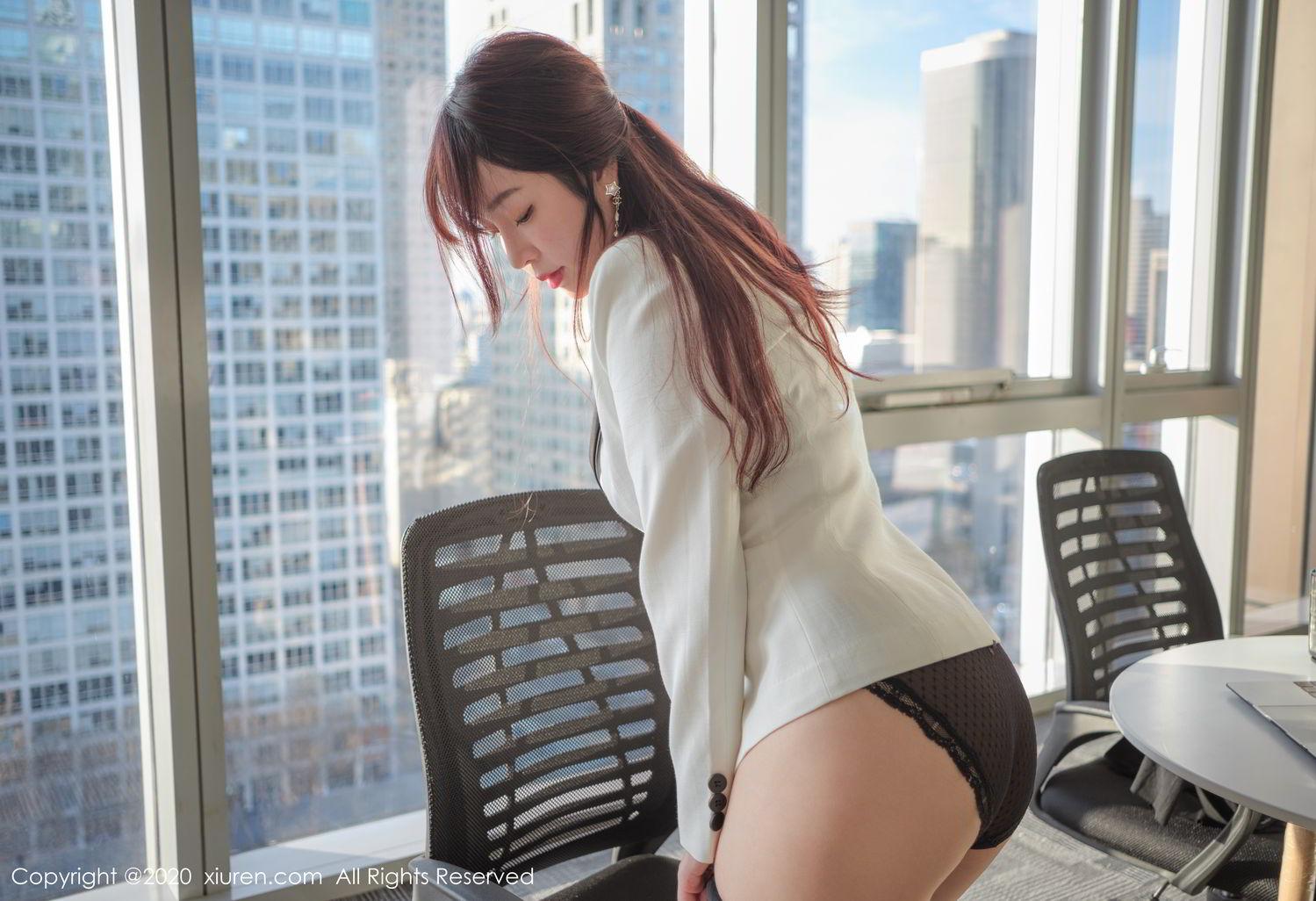 [XiuRen] Vol.2259 Wang Yu Chun 56P, Black Silk, Mature, Underwear, Wang Yu Chun, Xiuren