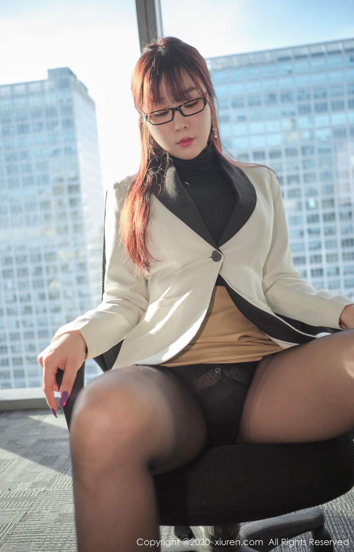 [XiuRen] Vol.2259 Wang Yu Chun 6P, Black Silk, Mature, Underwear, Wang Yu Chun, Xiuren