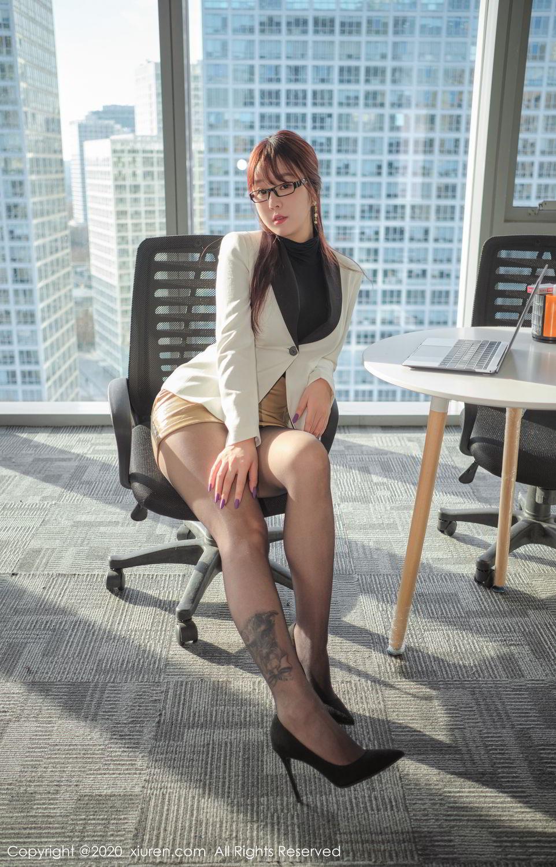 [XiuRen] Vol.2259 Wang Yu Chun 7P, Black Silk, Mature, Underwear, Wang Yu Chun, Xiuren