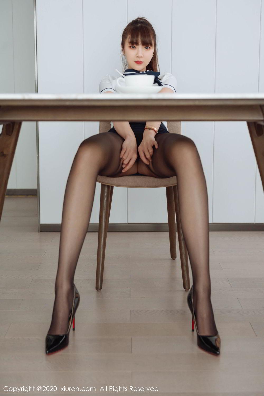 [XiuRen] Vol.2261 Ke Le Vicky 10P, Black Silk, Ke Le Vicky, Pure, Tall, Uniform, Xiuren