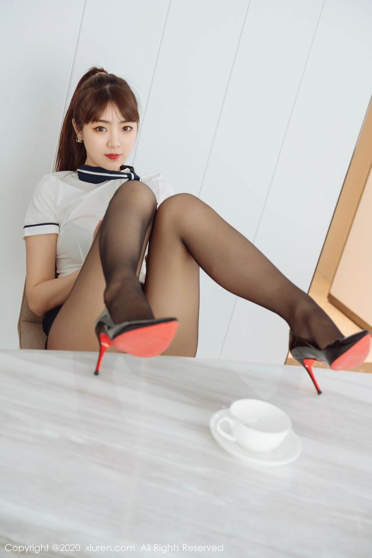 [XiuRen] Vol.2261 Ke Le Vicky 14P, Black Silk, Ke Le Vicky, Pure, Tall, Uniform, Xiuren