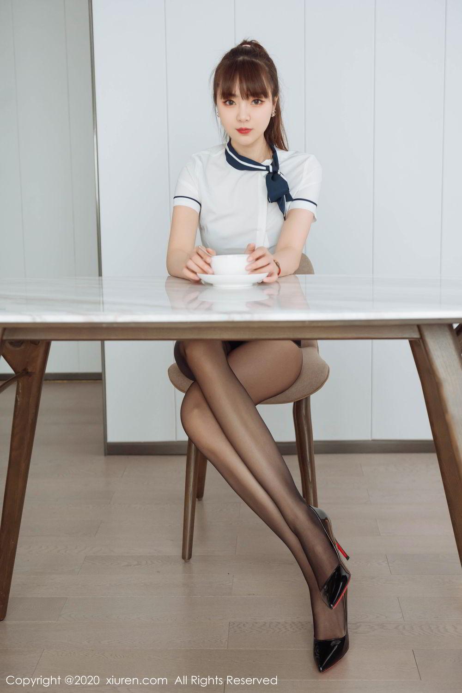 [XiuRen] Vol.2261 Ke Le Vicky 17P, Black Silk, Ke Le Vicky, Pure, Tall, Uniform, Xiuren