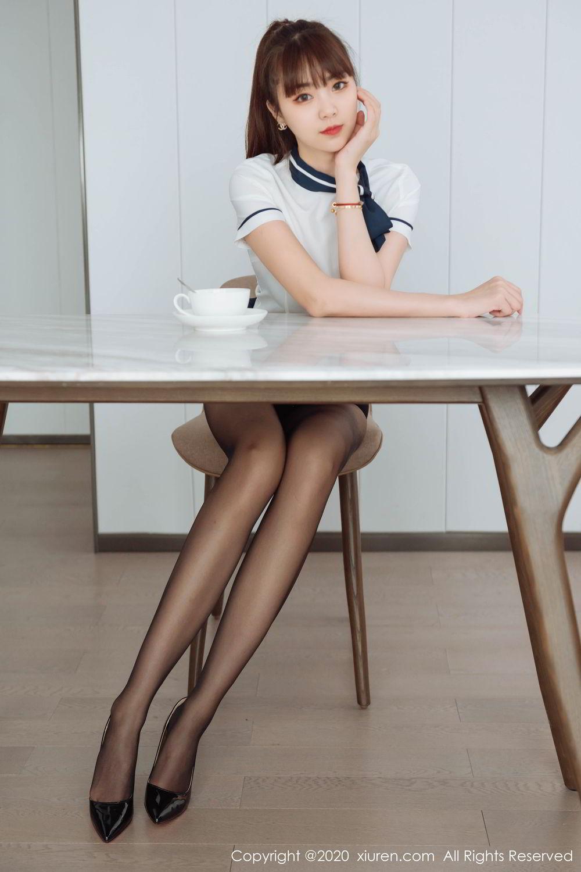 [XiuRen] Vol.2261 Ke Le Vicky 18P, Black Silk, Ke Le Vicky, Pure, Tall, Uniform, Xiuren
