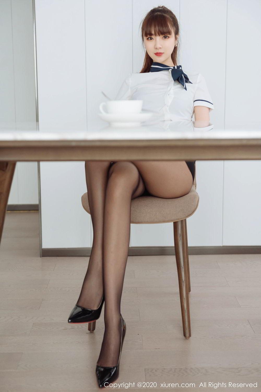 [XiuRen] Vol.2261 Ke Le Vicky 19P, Black Silk, Ke Le Vicky, Pure, Tall, Uniform, Xiuren