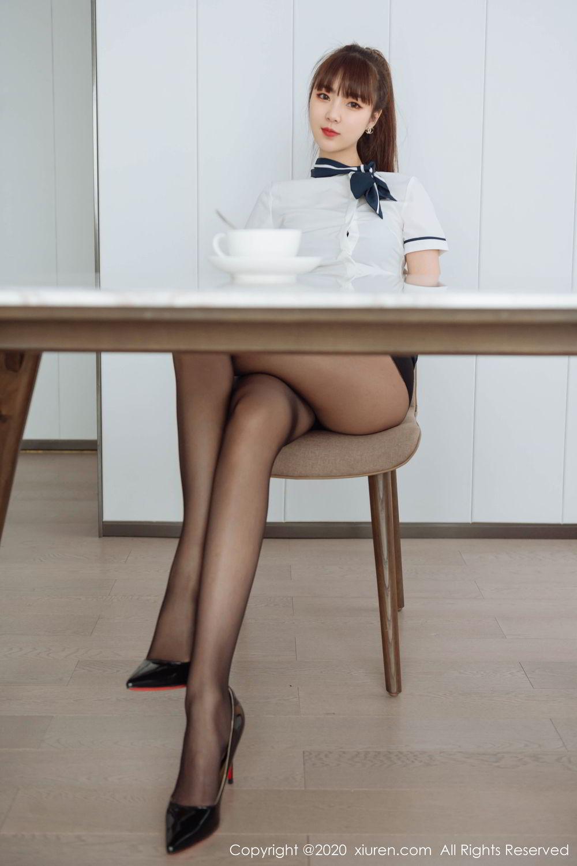 [XiuRen] Vol.2261 Ke Le Vicky 20P, Black Silk, Ke Le Vicky, Pure, Tall, Uniform, Xiuren
