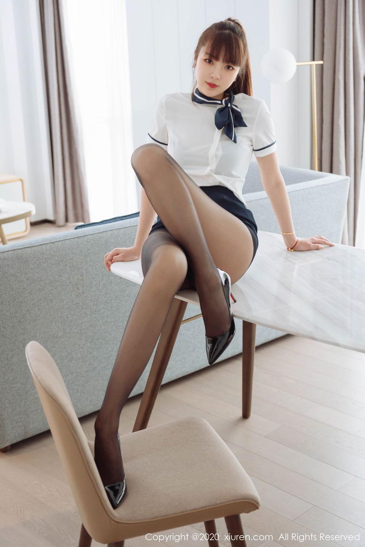 [XiuRen] Vol.2261 Ke Le Vicky 25P, Black Silk, Ke Le Vicky, Pure, Tall, Uniform, Xiuren