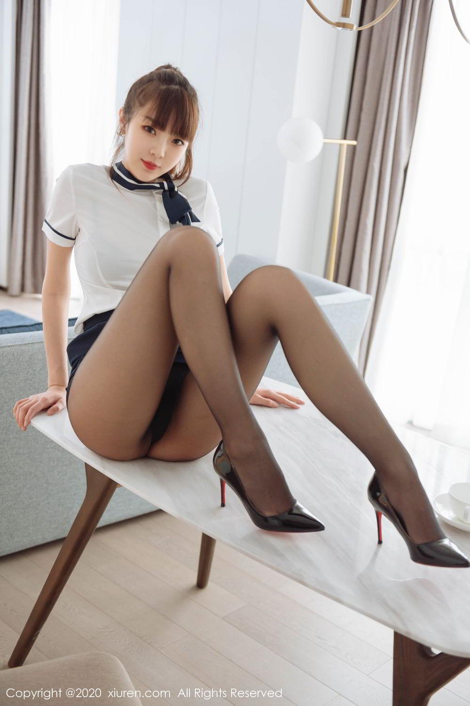 [XiuRen] Vol.2261 Ke Le Vicky 27P, Black Silk, Ke Le Vicky, Pure, Tall, Uniform, Xiuren
