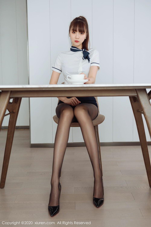 [XiuRen] Vol.2261 Ke Le Vicky 2P, Black Silk, Ke Le Vicky, Pure, Tall, Uniform, Xiuren