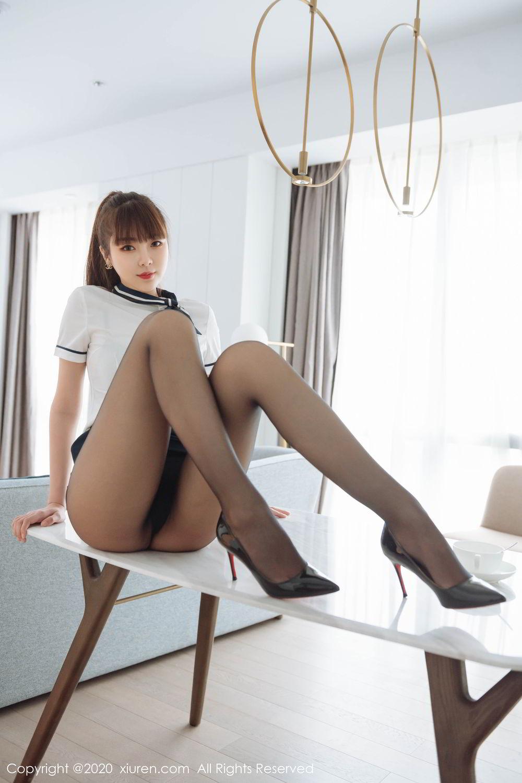 [XiuRen] Vol.2261 Ke Le Vicky 30P, Black Silk, Ke Le Vicky, Pure, Tall, Uniform, Xiuren