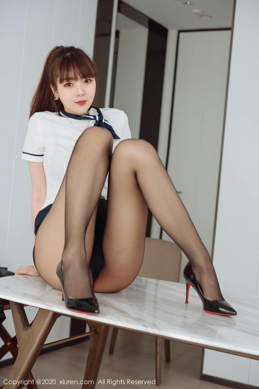 [XiuRen] Vol.2261 Ke Le Vicky 38P, Black Silk, Ke Le Vicky, Pure, Tall, Uniform, Xiuren