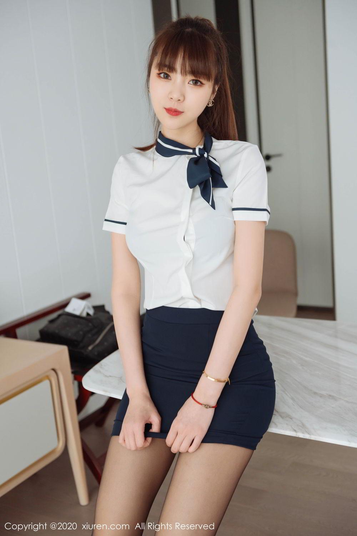 [XiuRen] Vol.2261 Ke Le Vicky 39P, Black Silk, Ke Le Vicky, Pure, Tall, Uniform, Xiuren