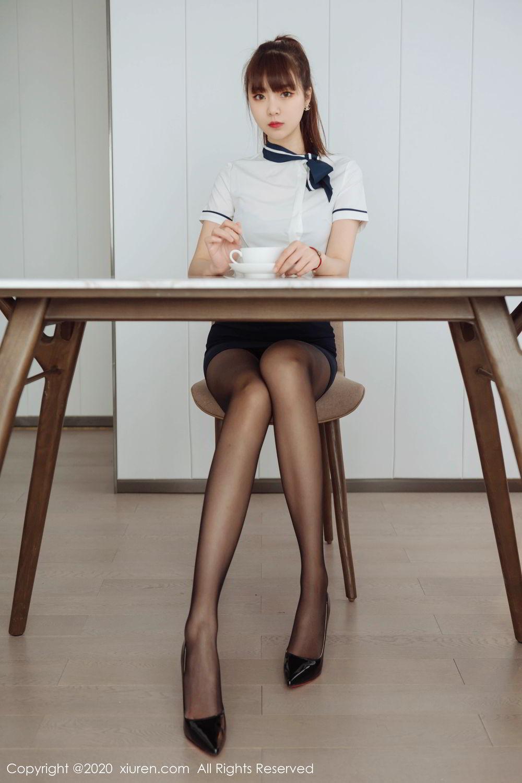 [XiuRen] Vol.2261 Ke Le Vicky 7P, Black Silk, Ke Le Vicky, Pure, Tall, Uniform, Xiuren