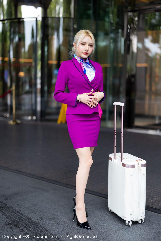 [XiuRen] Vol.2266 Wang Zhao Lu 7P, Stewardess, Wang Zhao Lu, Xiuren