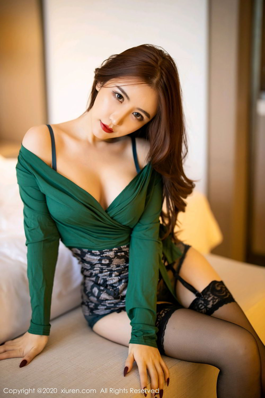 [XiuRen] Vol.2271 Xie Zhi Xin 14P, Black Silk, Tall, Underwear, Xie Zhi Xin, Xiuren