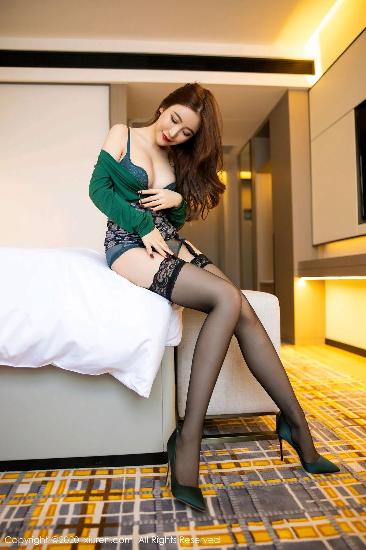 [XiuRen] Vol.2271 Xie Zhi Xin 17P, Black Silk, Tall, Underwear, Xie Zhi Xin, Xiuren