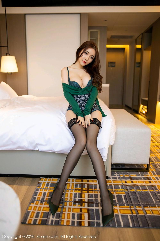 [XiuRen] Vol.2271 Xie Zhi Xin 18P, Black Silk, Tall, Underwear, Xie Zhi Xin, Xiuren