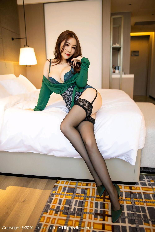 [XiuRen] Vol.2271 Xie Zhi Xin 20P, Black Silk, Tall, Underwear, Xie Zhi Xin, Xiuren