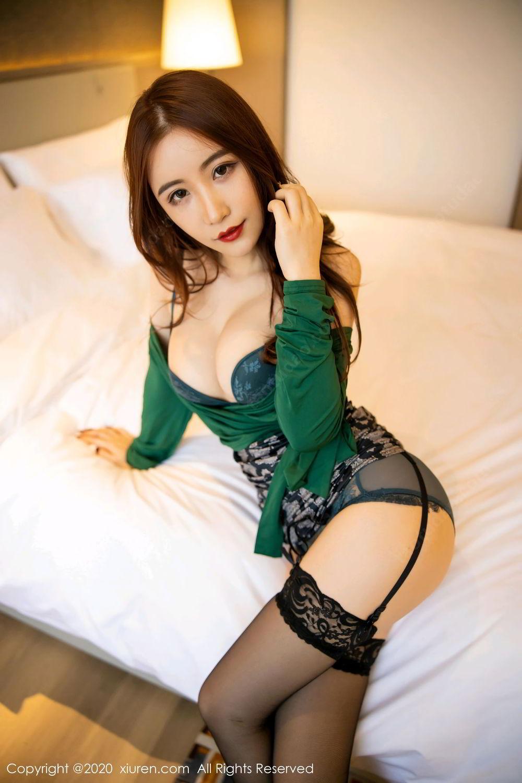 [XiuRen] Vol.2271 Xie Zhi Xin 22P, Black Silk, Tall, Underwear, Xie Zhi Xin, Xiuren