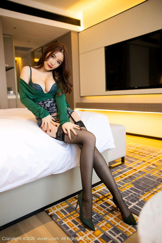[XiuRen] Vol.2271 Xie Zhi Xin 26P, Black Silk, Tall, Underwear, Xie Zhi Xin, Xiuren