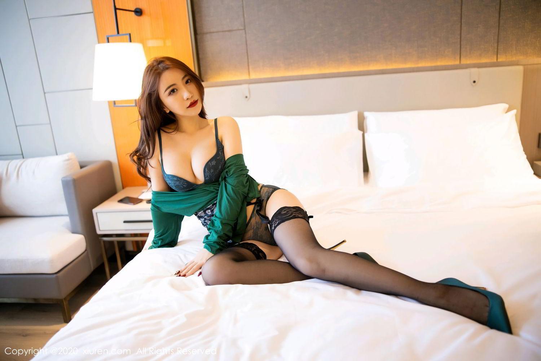 [XiuRen] Vol.2271 Xie Zhi Xin 33P, Black Silk, Tall, Underwear, Xie Zhi Xin, Xiuren