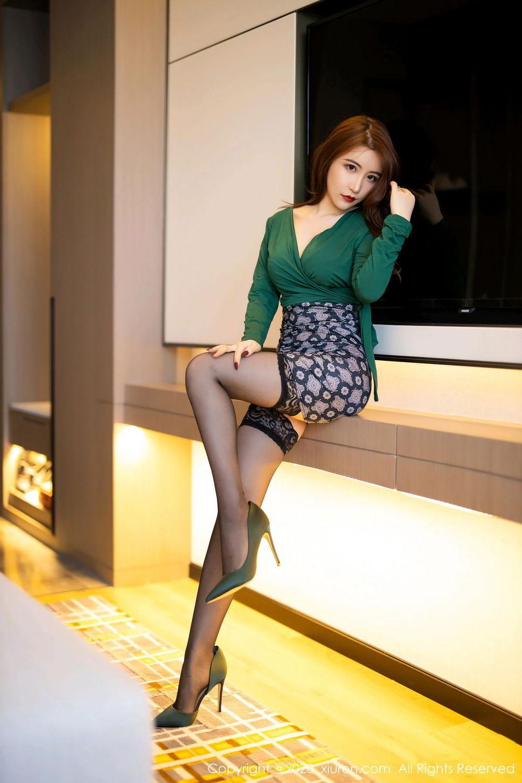 [XiuRen] Vol.2271 Xie Zhi Xin 34P, Black Silk, Tall, Underwear, Xie Zhi Xin, Xiuren