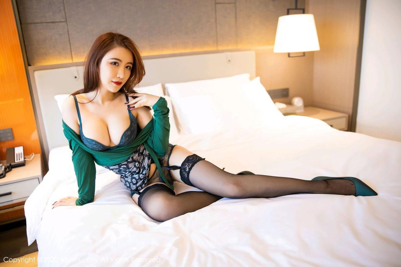 [XiuRen] Vol.2271 Xie Zhi Xin 35P, Black Silk, Tall, Underwear, Xie Zhi Xin, Xiuren