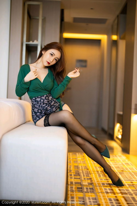 [XiuRen] Vol.2271 Xie Zhi Xin 3P, Black Silk, Tall, Underwear, Xie Zhi Xin, Xiuren