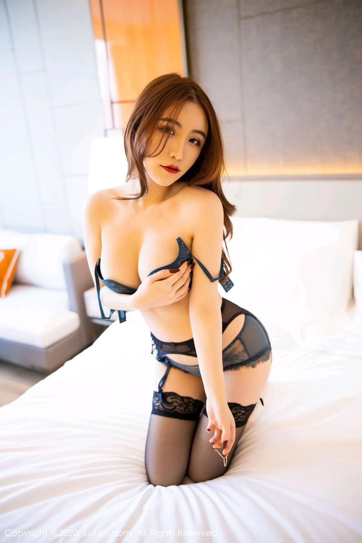 [XiuRen] Vol.2271 Xie Zhi Xin 55P, Black Silk, Tall, Underwear, Xie Zhi Xin, Xiuren