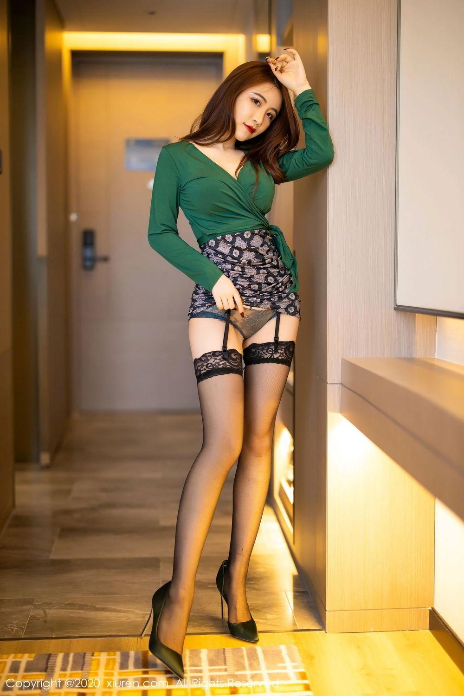 [XiuRen] Vol.2271 Xie Zhi Xin 65P, Black Silk, Tall, Underwear, Xie Zhi Xin, Xiuren
