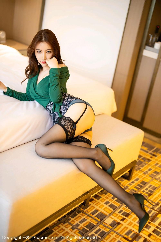 [XiuRen] Vol.2271 Xie Zhi Xin 8P, Black Silk, Tall, Underwear, Xie Zhi Xin, Xiuren