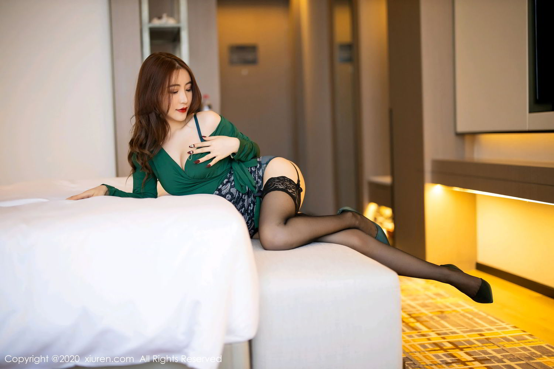 [XiuRen] Vol.2271 Xie Zhi Xin 9P, Black Silk, Tall, Underwear, Xie Zhi Xin, Xiuren