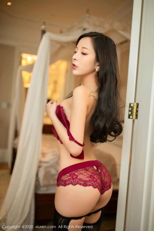 [XiuRen] Vol.2272 Chen Xiao Miao 19P, Black Silk, Chen Xiao Miao, Cheongsam, Tall, Underwear, Xiuren