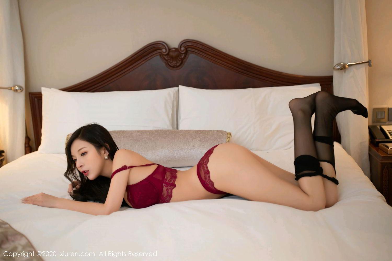 [XiuRen] Vol.2272 Chen Xiao Miao 32P, Black Silk, Chen Xiao Miao, Cheongsam, Tall, Underwear, Xiuren